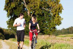 Zum gesund abnehmen, gehört auch Sport treiben