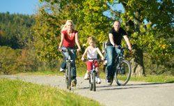 Eine gemeinsame Radtour bringt viel Spaß