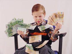 Überhäufen Sie Ihr Kind nicht mit Taschengeld