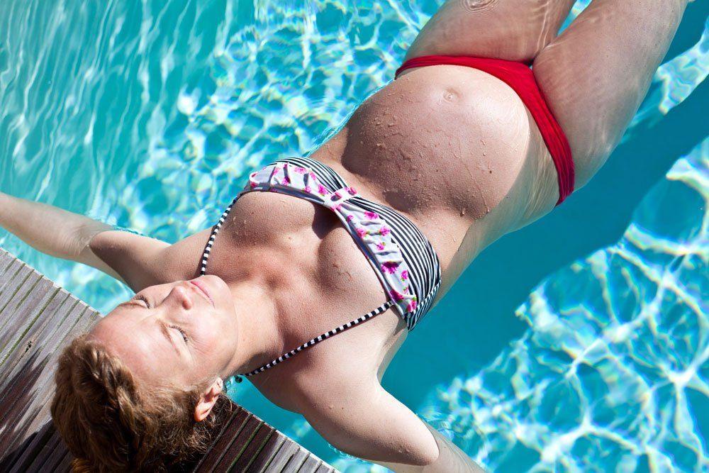 schwanger bewegung schwimmen wassereinlagerungen
