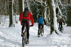 Mountainbike im Winter fahren