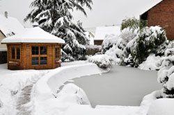 Teich im Winter - So machen Sie ihn winterfest