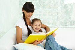 Eine ruhige Stimmung ist beim Vorlesen sehr wichtig