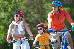 Treiben Sie mit der Familie Sport