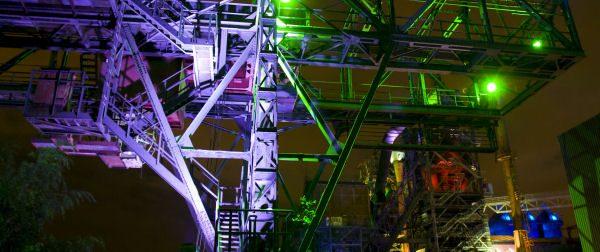 Tolle Lichteffekte - Zu bestaunen im Landschaftspark Duisburg