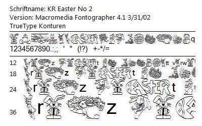 Oster-Schriftarten