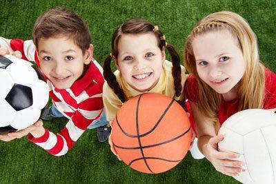 Was mag Ihr Kind: Fußball, Basketball oder vielleicht Volleyball?