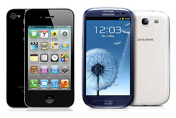 iPhone 4S und Samsung Galaxy S3