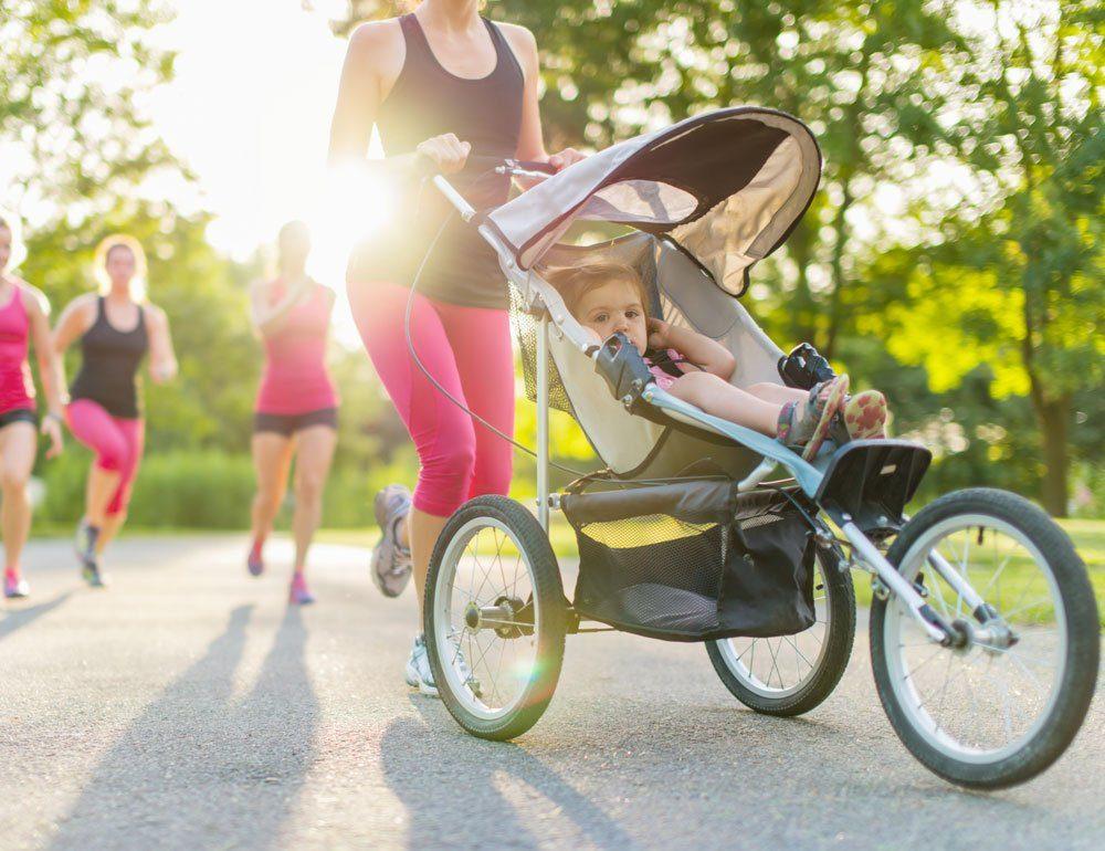 Eltern joggen Baby Kinderwagen Jogger