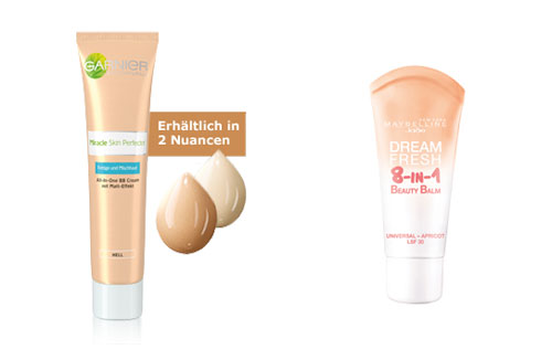 Garnier Miracle Skin Perfector und Maybelline Jade Dream Fresh 8-in-1 Beauty Balm