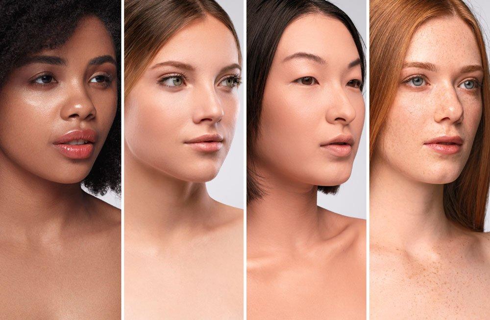 make-up tipps haut hell dunkel