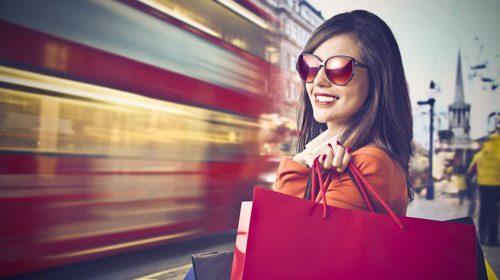In London kommen Shopping-Fans voll auf ihre Kosten