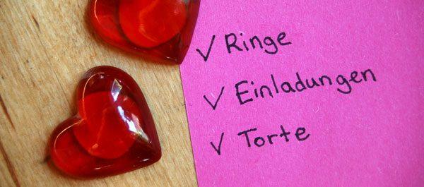 Hochzeit organisieren – Diese Website hilft Schritt für Schritt