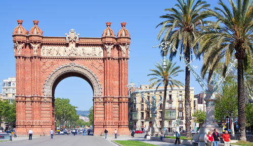 Sehenswürdigkeiten Barcelona Arc de Triomf