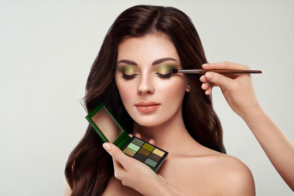 make-up trends lidschatten grün