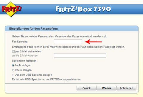FRITZ!Box Fax einrichten