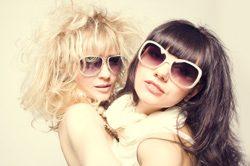 Sonnenbrille in Weiß
