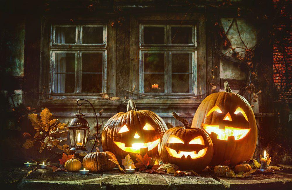 Halloween Kürbis Gesichter basteln