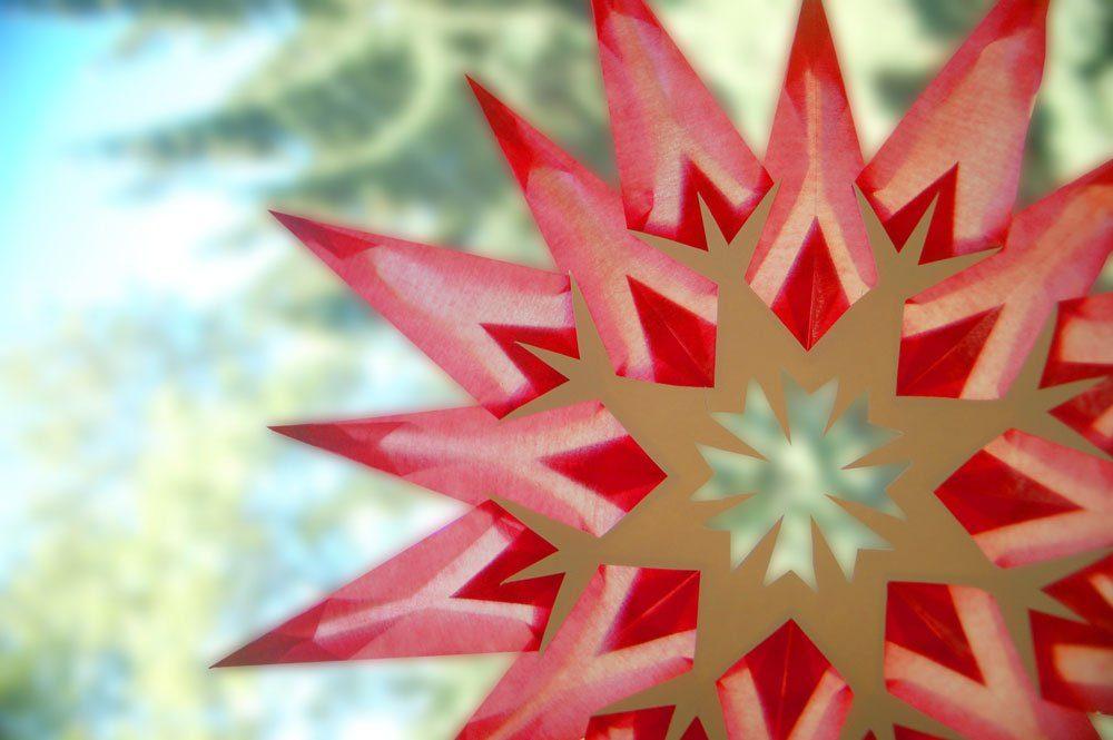 Stern Fenster Weihnachten basteln
