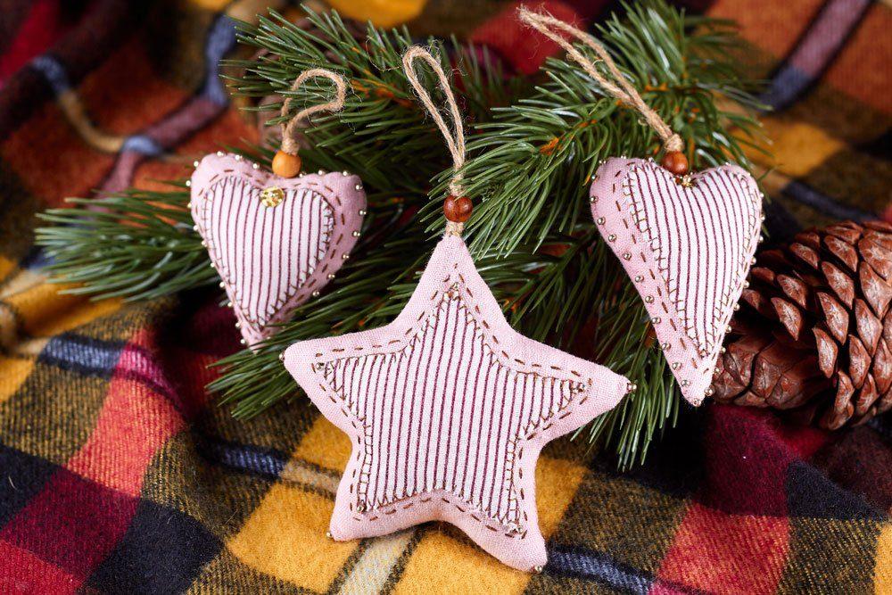 Weihnachtsdeko basteln nähen Sterne