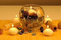 Küche dekorieren - Kerze im Glas