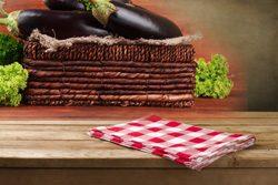 Küche dekorieren - Korbgeflecht trifft auf kariert