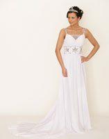 Passendes Brautkleid finden Empire Kleid