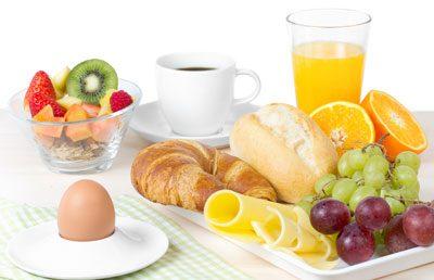Spontaner Besuch Frühstück