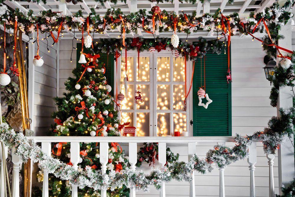 Weihnachtsdeko Haus Hof Garten basteln kreativ