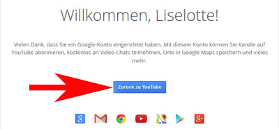 YouTube Kanal erstellen Google Accout bestätigen