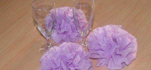Blumen aus Servietten