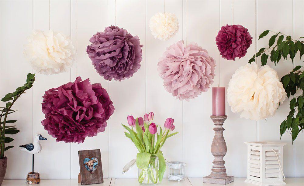 Servietten basteln Blumen Deko Tisch