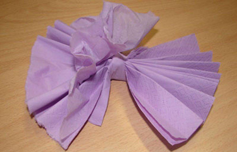 Serviette Blume zupfen basteln