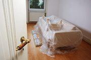 Möbel und Boden abdecken