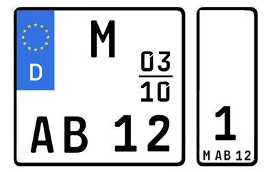 Motorrad zulassen Wechselkennzeichen