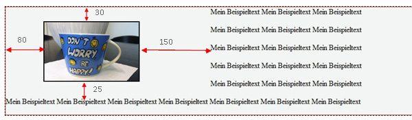 HTML Bild margin