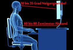 Nackenschmerzen Arbeitsplatz Bildschirm