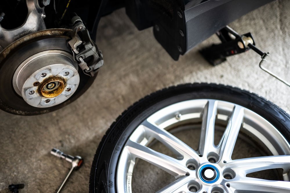 Reifen wurde wegen defekten Radlagern abmontiert.