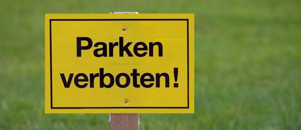 Privatparkplatz vor Falschparkern schützen