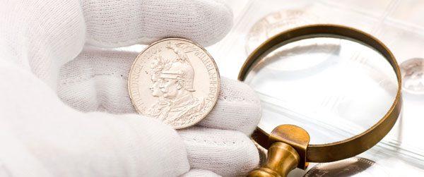 Silbermünzen reinigen
