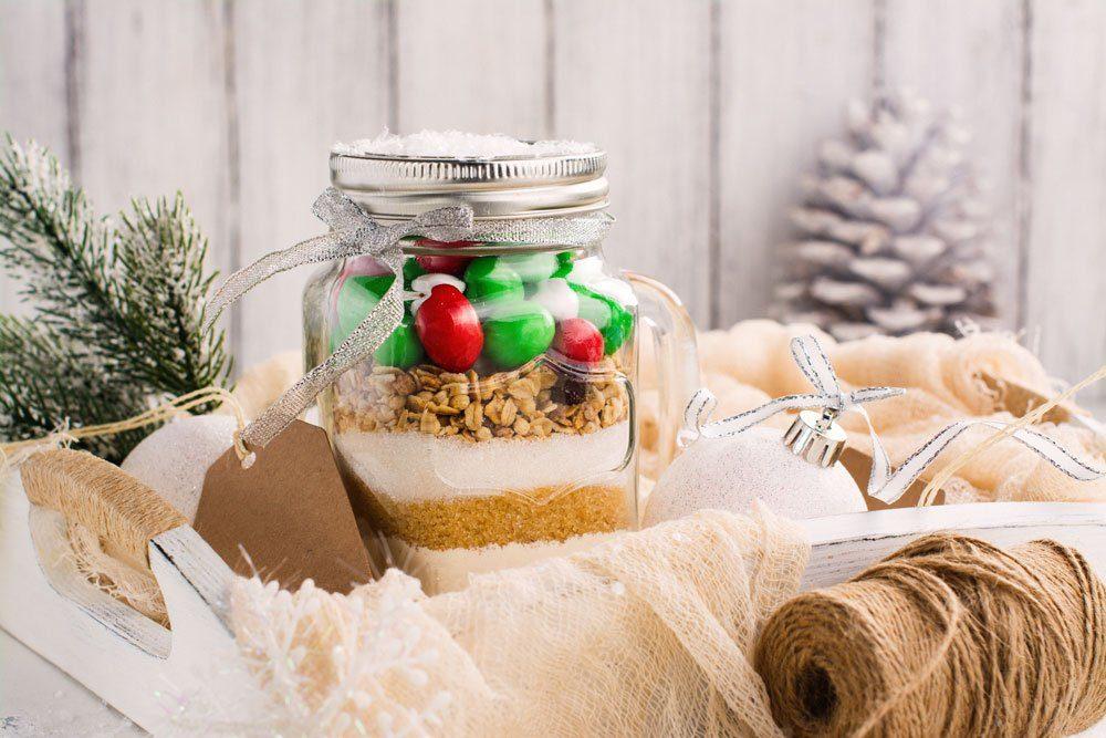 Zutaten, Rezept, Cookies, Glas, selbermachen
