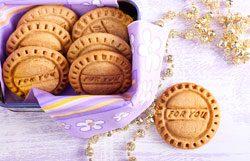 Give Away Hochzeit selbstgemacht Kekse stempel