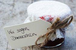 Give Away Hochzeit selbstgemacht Marmelade