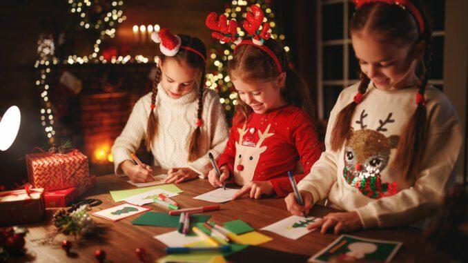 Weihnachstpost, basteln, Kinder
